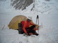 Teo in tabara 1(5900m) - Gasherbrum